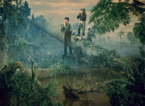 Pete, Jack, and Tony search for a lost companion in the Paleozoic era.
