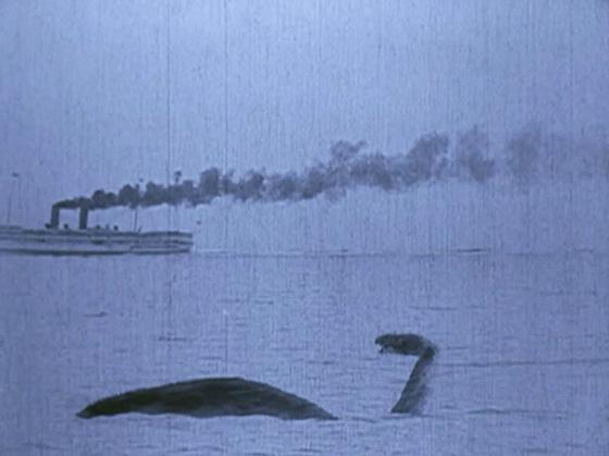 The Brontosaurus escapes his London captors.