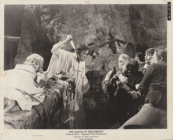 Lobby card depicting the film's climax in the mine.