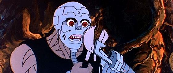 A Man-Droid traps Orin.