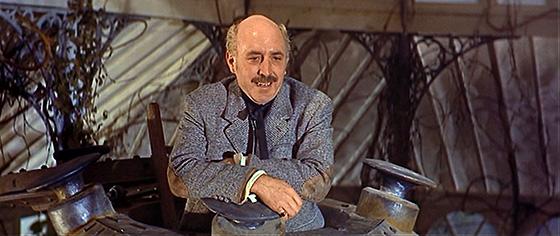 Lionel Jeffries as Joseph Cavor, inventor of Cavorite.