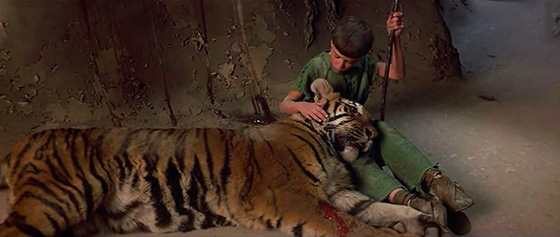 Titch (Graham McGrath) and Ergo the Magnificent, transformed into a tiger.
