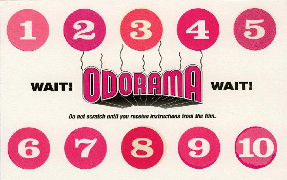 Polyester Odorama card
