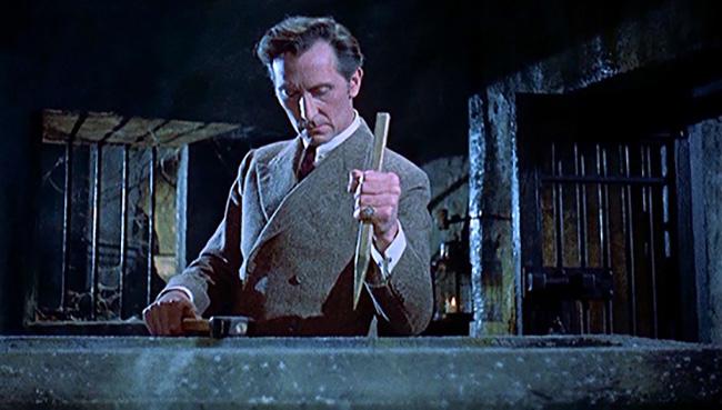 Peter Cushing as Van Helsing.