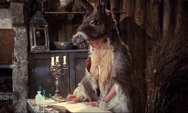 Catherine Deneuve as the princess in her donkey skin.