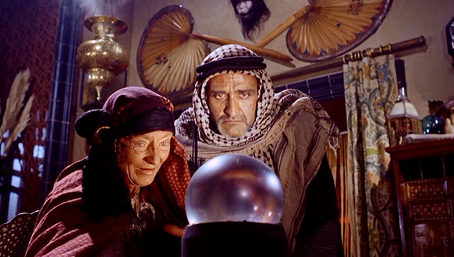 Fortune teller Haiti (Catherine Lacey) and her son Hasmid (Roger Delgado) plot against the raiders of a Pharaoh's tomb.