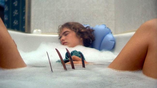 Nancy falls asleep in the bath.