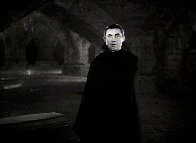Lugosi's Dracula makes his first appearance.