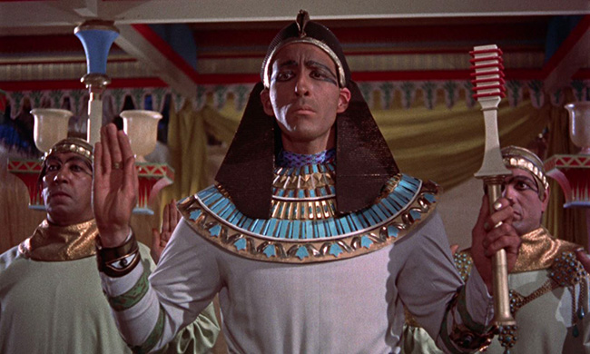 Christopher Lee as the High Priest Kharis.