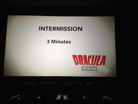 The Dracula double feature live theater event, sponsored by Turner Classic Movies.