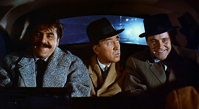 Redlitch (Ernie Kovacs), Shep, and Nicky (Jack Lemmon).