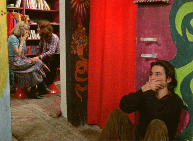 "The ""outside"" in Out 1 - Colin (Jean-Pierre Leaud) is isolated even when he tries to join with others - the Thirteen, or at least his love Pauline/Émilie (Bulle Ogier, smoking in the next room)."