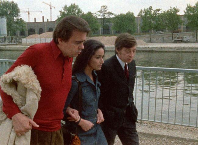 """""""Seventh Episode: From Émilie to Lucie"""": Thomas (Michael Lonsdale), Lucie (Françoise Fabian), and Etienne (Jacques Doniol-Valcroze) discuss Émilie's scheme."""