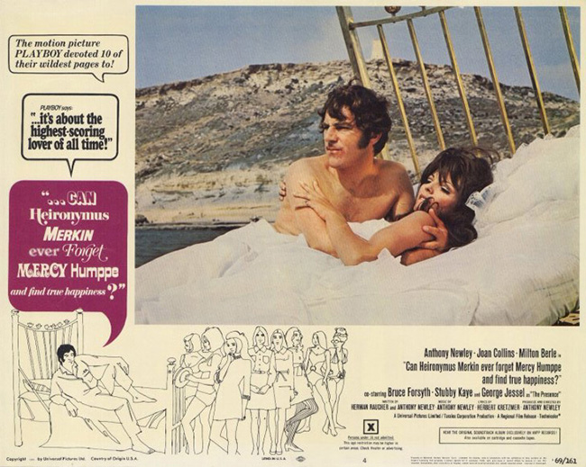 Anthony Newley as Heironymus Merkin, Joan Collins as Polyester Poontang.