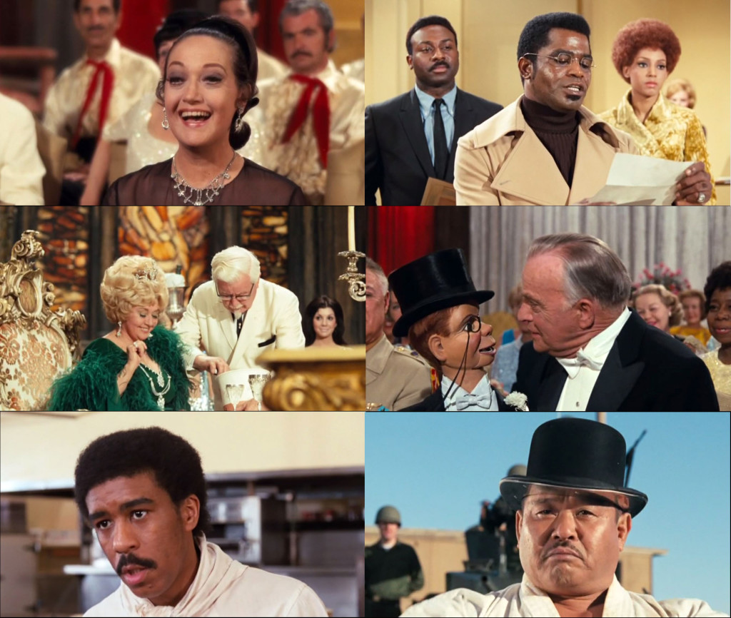 "Some of The Phynx's many cameos: Dorothy Lamour, James Brown, Joan Blondell and Colonel Sanders, Charlie McCarthy and Edgar Bergen, Richard Pryor, Harold ""Oddjob"" Sakata."