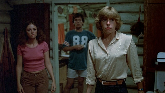 """Marcie (Jeannine Taylor), Bill (Harry Crosby), and Alice (Adrienne King) in """"Friday the 13th."""""""