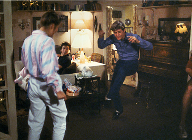 Crispin Glover livens a party with his unique dance moves.