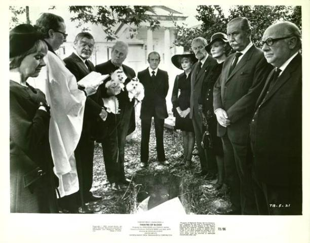 Members of the Critics Circle gather to mourn one of Lionheart's victims.