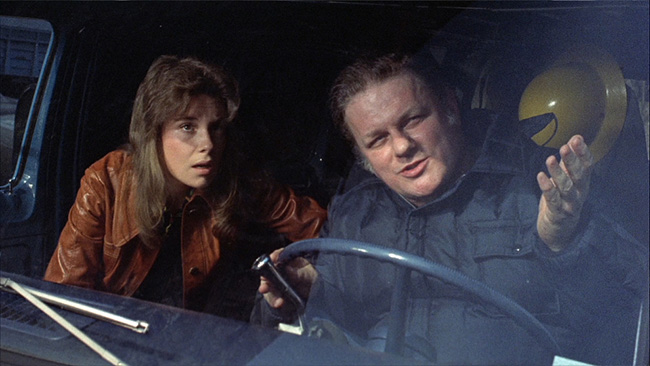 Grace brings a private detective, Joseph Larch (Charles Durning), to the scene of the crime.