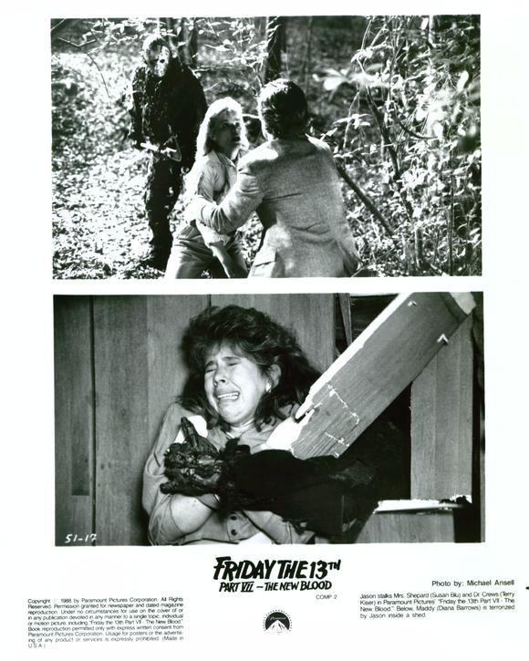 "Production stills from ""Friday the 13th Part VII: The New Blood."""