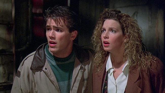 """Sean (Scott Reeves) and Rennie (Jensen Daggett) in """"Friday the 13th Part VIII: Jason Takes Manhattan."""""""