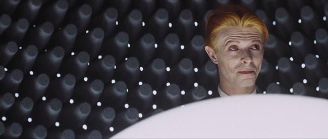 David Bowie as Thomas Jerome Newton.