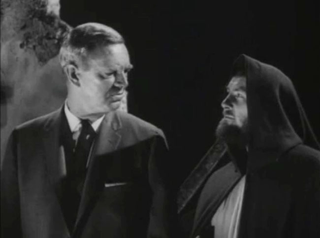 Grudge and the Ghost of Christmas Future (Robert Shaw), witnessing the end of the world.