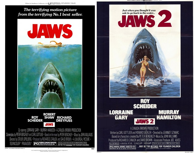 Double Feature Jaws 1975 Jaws 2 1978 Midnight Only